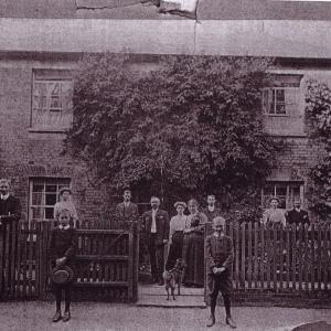 Aldous family outside Crown House